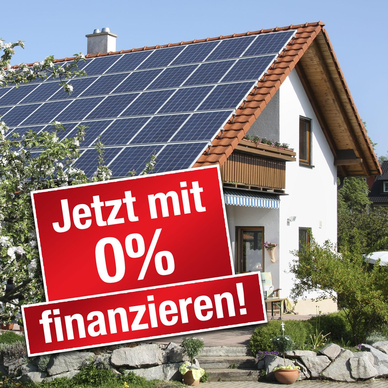 0%-Finanzierung für Ihre Photovoltaik-Anlage